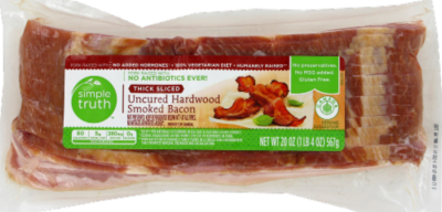 Fresh Bacon, Simple Truth™ Uncured Hardwood Smoked Bacon (16 oz Bag)