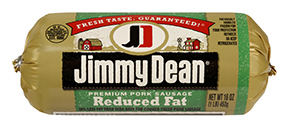 Fresh Ground Sausage, Jimmy Dean® Premium Pork Reduced Fat Sausage (16 oz Tube)