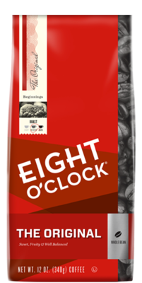 Bean Coffee, Eight O'Clock® The Original® Whole Bean Coffee (12 oz Bag)