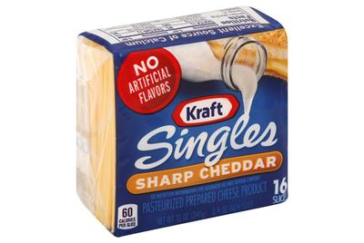 Cheese, Kraft® Singles® Sharp Cheddar, 16 Count, 12 oz Bag