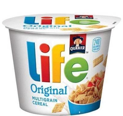 Cereal, Quaker Oats® Life® Original Cereal (2.29 oz Cup)