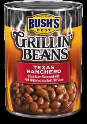 Canned Ranchero Beans, Bush's® Grillin' Beans® Texas Ranchero Beans (22 oz Can)