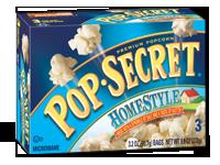 Microwave Popcorn, Pop Secret® Homestyle Microwave Popcorn (9.6 oz. Box, 3 Bags)