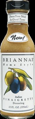 Salad Dressing, Brianna's® Italian Vinaigrette Salad Dressing (12 oz Bottle)