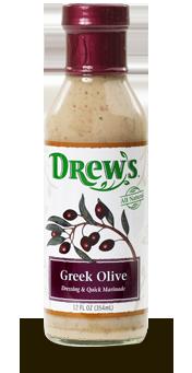 Salad Dressing, Drew's® Greek Olive Dressing/Quick Marinade (12 oz Bottle)