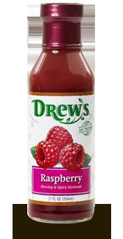 Salad Dressing, Drew's® Raspberry Dressing/Quick Marinade (12 oz Bottle)