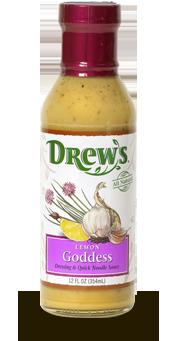 Salad Dressing, Drew's® Lemon Goddess Dressing/Quick Noodle Sauce (12 oz Bottle)