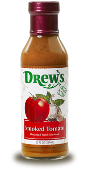 Salad Dressing, Drew's® Smoked Tomato Dressing/Quick Marinade (12 oz Bottle)