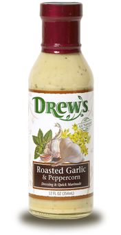 Salad Dressing, Drew's® Roasted Garlic and Peppercorn Salad Dressing/Quick Marinade (12 oz Bottle)