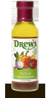 Salad Dressing, Drew's® Classic Italian Dressing/Quick Marinade (12 oz Bottle)