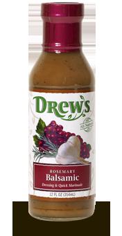 Salad Dressing, Drew's® Rosemary Balsamic Dressing/Quick Marinade (12 oz Bottle)