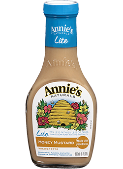 Salad Dressing, Annie's® Honey Mustard Vinaigrette Dressing, Lite (8 oz Bottle)