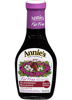 Salad Dressing, Annie's® Raspberry Balsamic Vinaigrette Dressing, Lite (8 oz Bottle)
