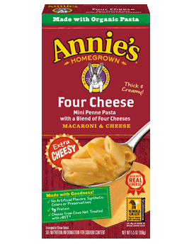 Mac N Cheese Pasta, Annie's® Four Cheese Macaroni & Cheese (5.5 oz Box)