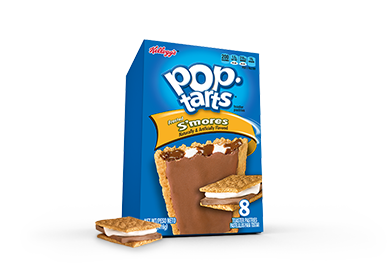 Toaster Pastries, Kellogg's® Pop Tarts® S'Mores, Frosted, 14.1 oz Box (8 per Box)