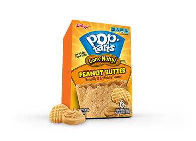 Toaster Pastries, Kellogg's® Pop Tarts® Peanut Butter, 10.5 oz Box (6 per Box)