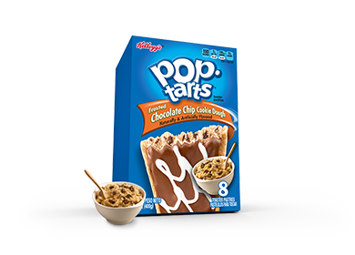 Toaster Pastries, Kellogg's® Pop Tarts® Chocolate Chip Cookie Dough, Frosted, 14.7 oz Box (8 per Box)