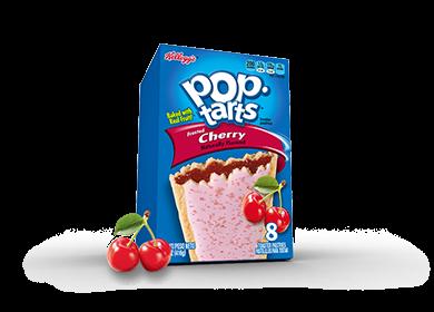 Toaster Pastries, Kellogg's® Pop Tarts® Cherry, Frosted, 14.7 oz Box (8 per Box)