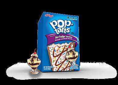 Toaster Pastries, Kellogg's® Pop Tarts® Hot Fudge Sundae, Frosted, 14.1 oz Box (8 per Box)