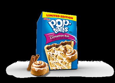 Toaster Pastries, Kellogg's® Pop Tarts® Cinnamon Roll, Frosted, 14.1 oz Box (8 per Box)