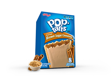 Toaster Pastries, Kellogg's® Pop Tarts® Brown Sugar Cinnamon, Frosted, 14.1 oz Box (8 per Box)