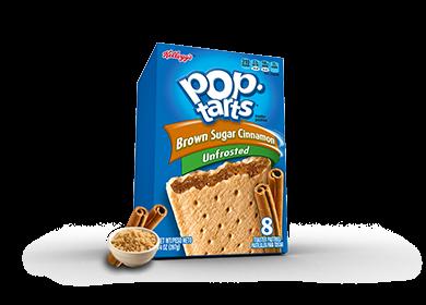 Toaster Pastries, Kellogg's® Pop Tarts® Brown Sugar Cinnamon, Unfrosted, 14.1 oz Box (8 per Box)