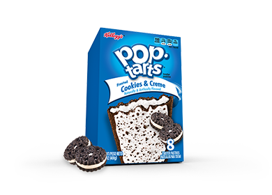 Toaster Pastries, Kellogg's® Pop Tarts® Cookies & Creme, Frosted, 14.1 oz Box (8 per Box)