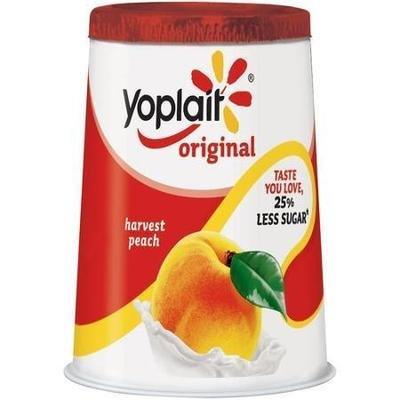 Yogurt, Yoplait® Original Harvest Peach Yogurt (6 oz Cup)