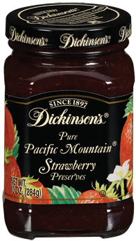 Fruit Spread, Dickinson's® Pacific Mountain® Strawberry Preserves (10 oz Jar)