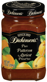 Fruit Spread, Dickinson's® Patterson Apricot Preserves (10 oz Jar)