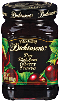 Fruit Spread, Dickinson's® Black Sweet Cherry Preserves (10 oz Jar)