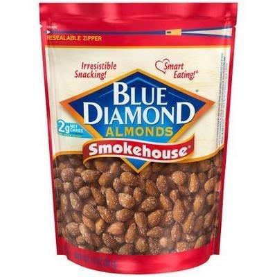 Snack Food, Nuts, Blue Diamond® Almonds, Smokehouse, 14 oz Bag