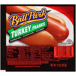 Turkey Hot Dogs, Ball Park® Turkey Franks, Bun Size, 8 Franks, 15 oz Resealable Bag