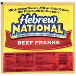 Hot Dogs, Hebrew National® Beef Franks, 8 Franks, 12 oz Bag
