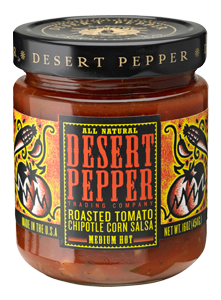 Salsa, Desert Pepper® Medium Roasted Tomato Chipolte Corn Salsa (16 oz Jar)