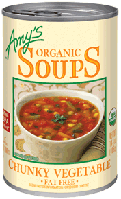 Canned Organic Soup, Amy's® Organic Chunky Vegetable Soup (14.3 oz Can)
