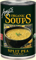 Canned Organic Soup, Amy's® Organic Split Pea Soup, Low Fat (14.5 oz Can)