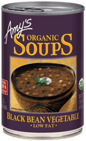 Canned Organic Soup, Amy's® Organic Black Bean Vegetable Soup (14.5 oz Can)