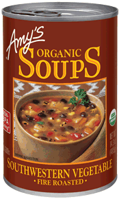 Canned Organic Soup, Amy's® Organic Fire Roasted Southwestern Vegetable Soup (14.5 oz Can)