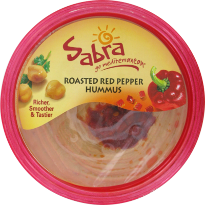 Hummus, Sabra® Roasted Red Pepper Hummus (10 oz Tub)