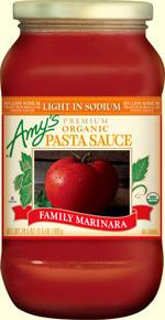 Marinara Pasta Sauce, Amy's® Organic Family Marinara Sauce (24.5 oz Jar)