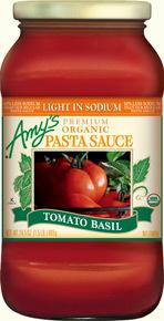 Pasta Sauce, Amy's® Organic Tomato Basil Pasta Sauce (24.5 oz Jar)