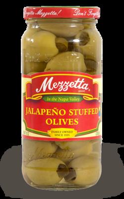 Preserved Olives, Mezzetta® Jalapeño Stuffed Olives (10 oz Jar)