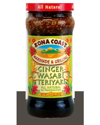 Sauce, Kona Coast® Ginger Wasabi Teriyaki Marinade (15 oz Jar)