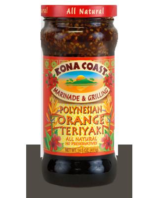 Sauce, Kona Coast® Paradise Polynesian Orange Teriyaki Marinade (15 oz Bottle)