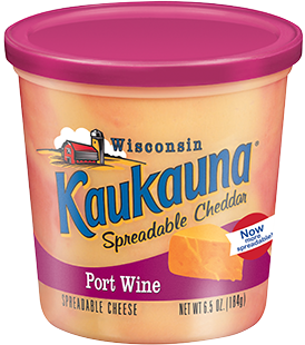 Cheese Spread, Kaukauna® Wisconsin Spreadable Port Wine Cheese (6.5 oz Cup)