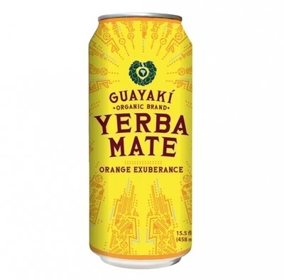 Energy Drink, Guayaki® Yerba Mate, Orange Exuberance (15.5 oz Can)