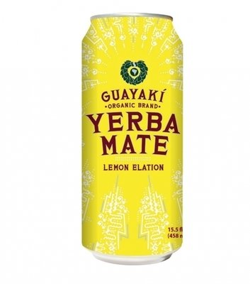 Energy Drink, Guayaki® Yerba Mate, Lemon Elation (15.5 oz Can)