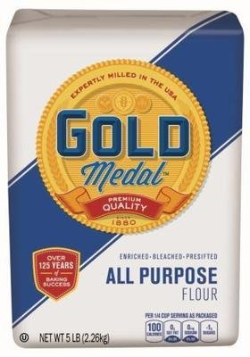 Baking Flour, Gold Medal® All Purpose Bleached Flour (80 oz Bag)
