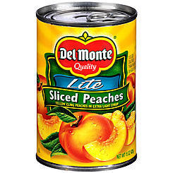 Canned Fruit, Del Monte® Sliced Peaches Yellow in Extra Light Syrup (15 oz Can)